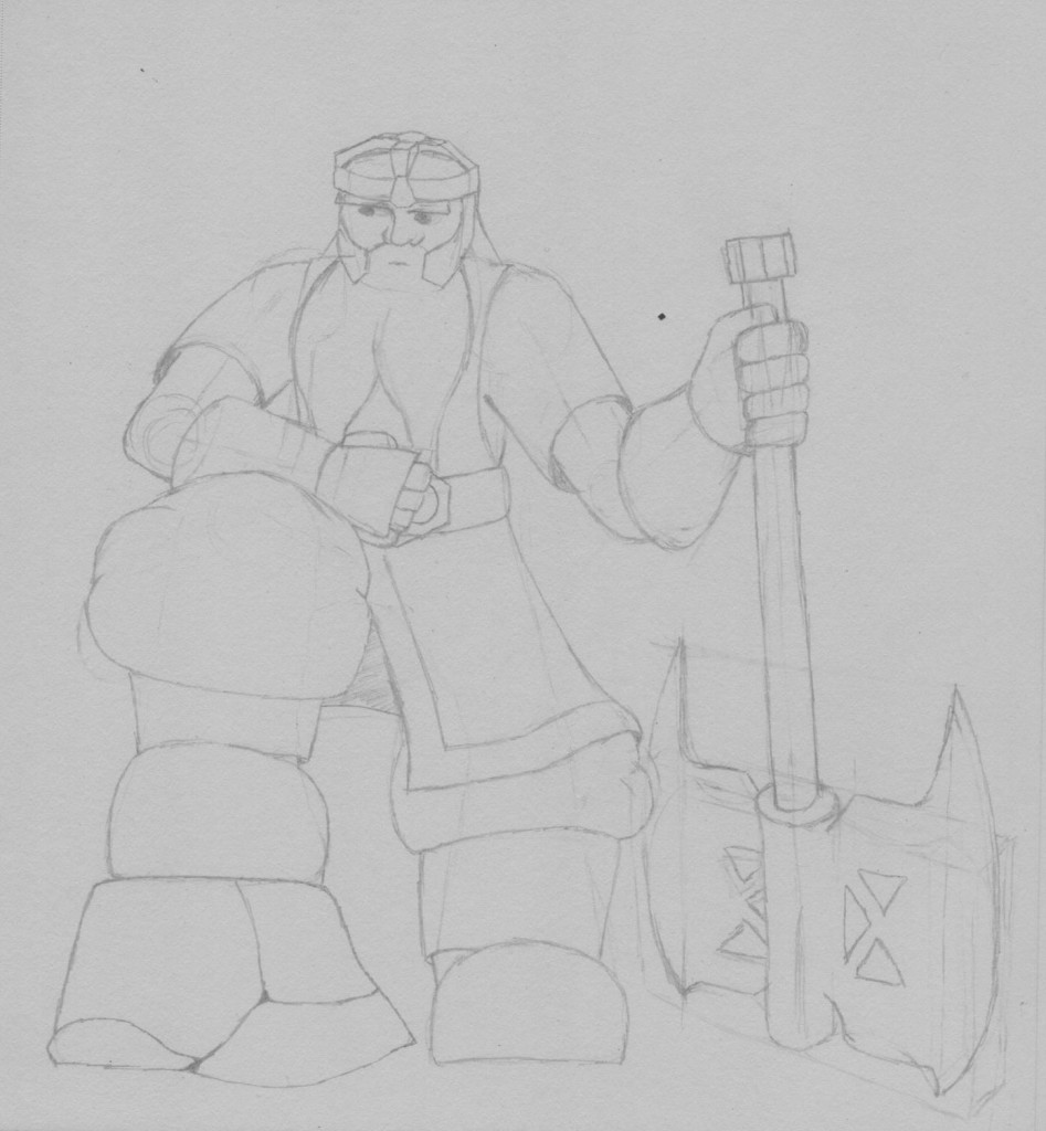 Gimli Sketch (Jan 2013) click to view full-sized