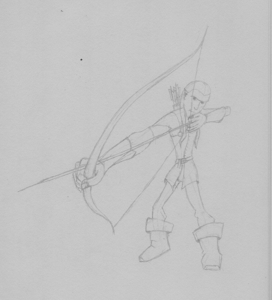 Legolas Sketch (Jan 2013) click to view full-sized